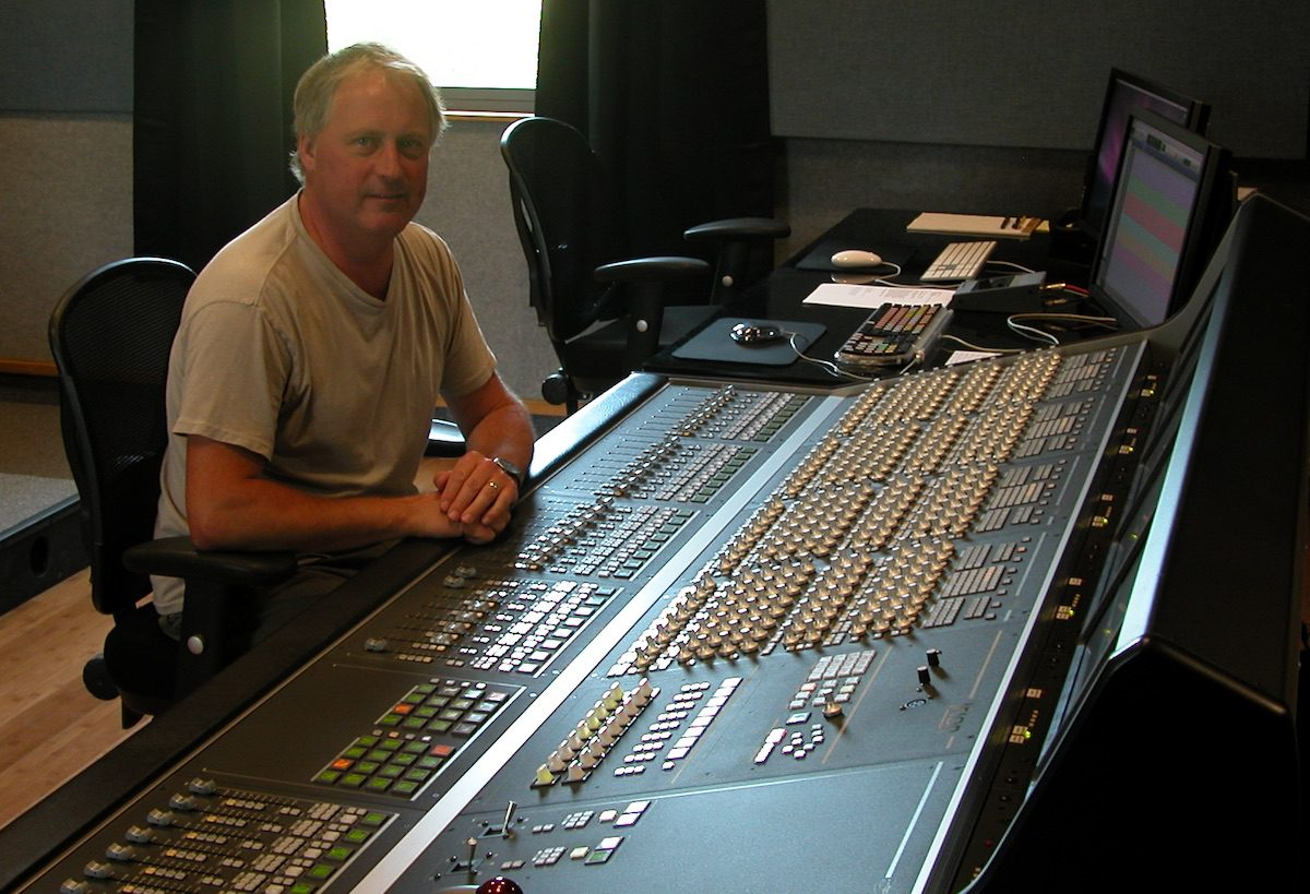 Paul Massey at Mixing Console for Audio Post Production Nashville, TN